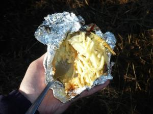 Lunch. Jacket potato, cheese and chilli pesto. Perfection!