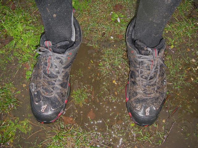 Feet. Wet feet. Scrub that - these are sodden feet!