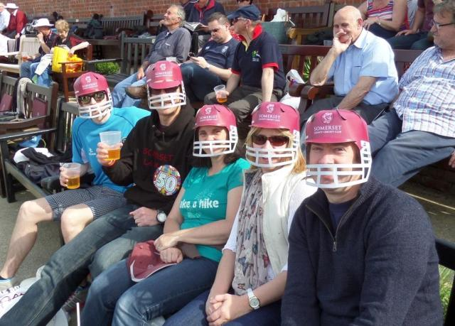 All ready for the action to start!  Complete with protective paper headwear.