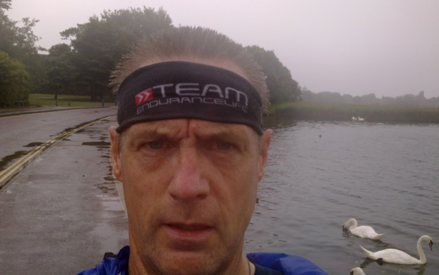 Yep, that's me. Headband to stop the water/sweat pouring into my eyes. It does work!