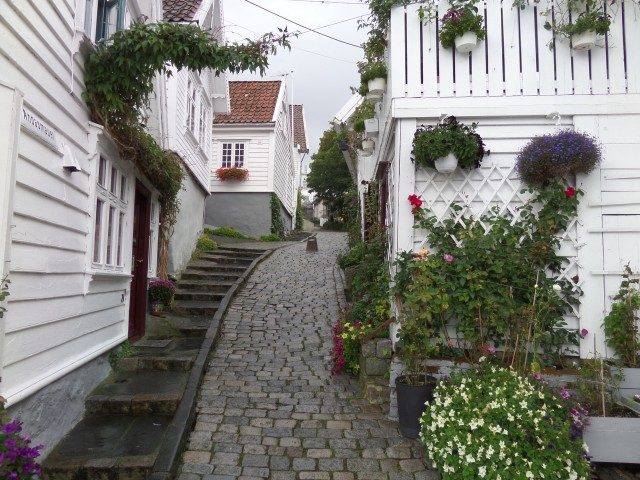 The quaint streets of downtown Stavanger